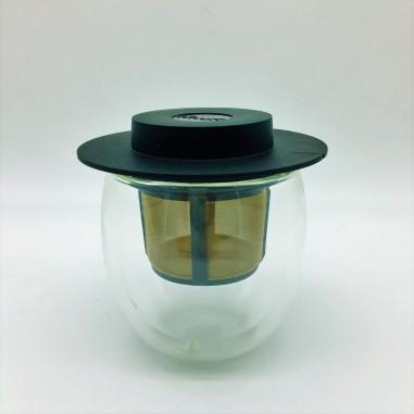 Vaso Cristal doble Capa con Filtro y Tapadera 200 ml
