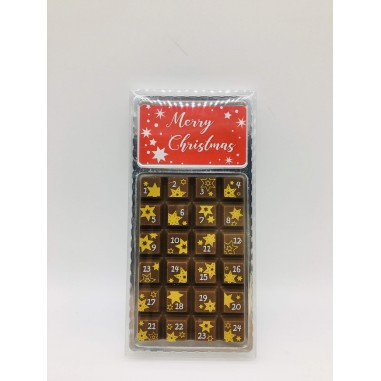 Mini Calendario de Adiviento de Chocolate, 30gr